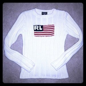 Polo Ralph Lauren Flag Sweater size Small